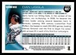 2010 Topps #487  Dan Uggla  Back Thumbnail