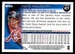 2010 Topps #477  Nate McLouth  Back Thumbnail