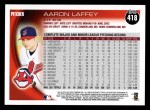 2010 Topps #418  Aaron Laffey  Back Thumbnail