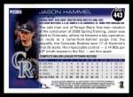 2010 Topps #443  Jason Hammel  Back Thumbnail