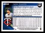 2010 Topps #407  Nick Punto  Back Thumbnail