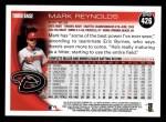 2010 Topps #426  Mark Reynolds  Back Thumbnail