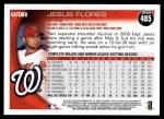 2010 Topps #485  Jesus Flores  Back Thumbnail