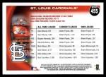2010 Topps #455   Cardinals History Back Thumbnail
