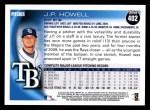 2010 Topps #402  J.P. Howell  Back Thumbnail