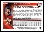 2010 Topps #490  Michael Bourn  Back Thumbnail
