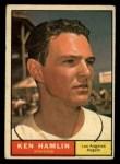 1961 Topps #263 ERR Ken Hamlin  Front Thumbnail