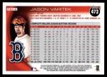 2010 Topps #473  Jason Varitek  Back Thumbnail
