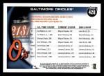2010 Topps #428   Orioles History Back Thumbnail