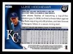 2010 Topps #437  Luke Hochevar  Back Thumbnail