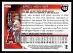 2010 Topps #466  Jered Weaver  Back Thumbnail