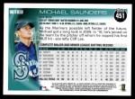 2010 Topps #451  Michael Saunders  Back Thumbnail