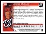 2010 Topps #453  Jesse English  Back Thumbnail