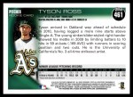 2010 Topps #461  Tyson Ross  Back Thumbnail