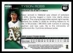 2010 Topps #461  Tyson Ross  Back Thumbnail