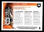 2010 Topps #408   Tigers History Back Thumbnail