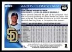 2010 Topps #460  Aaron Cunningham  Back Thumbnail