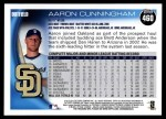 2010 Topps #460  Aaron Cunningham  Back Thumbnail