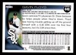 2010 Topps #446  Gavin Floyd  Back Thumbnail