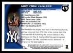 2010 Topps #470   Yankees Team Back Thumbnail