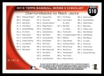 2010 Topps #510   -  Justin Upton / Mark Reynolds Diamondbacks to Back Jacks Back Thumbnail