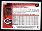 2010 Topps #581  Chris Dickerson  Back Thumbnail