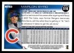 2010 Topps #516  Marlon Byrd  Back Thumbnail