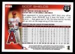 2010 Topps #512  Scot Shields  Back Thumbnail