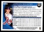 2010 Topps #522  Jordan Schafer  Back Thumbnail