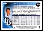 2010 Topps #535  Andy Sonnanstine  Back Thumbnail