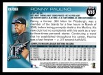 2010 Topps #558  Ronny Paulino  Back Thumbnail