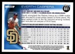 2010 Topps #551  Everth Cabrera  Back Thumbnail