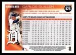 2010 Topps #526  Carlos Guillen  Back Thumbnail