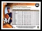 2010 Topps #609  Jeff Suppan  Back Thumbnail