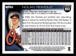 2010 Topps #653  Nolan Reimold  Back Thumbnail
