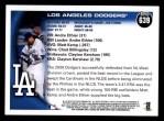 2010 Topps #639   Dodgers Team Back Thumbnail