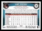 2011 Topps #59  Gaby Sanchez  Back Thumbnail