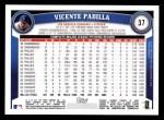 2011 Topps #37  Vincente Padilla  Back Thumbnail