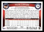 2011 Topps #74  Tyler Clippard  Back Thumbnail