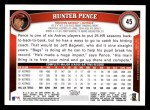 2011 Topps #45  Hunter Pence  Back Thumbnail