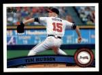 2011 Topps #77  Tim Hudson  Front Thumbnail