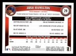 2011 Topps #29   -  Josh Hamilton Most Valuable Player Back Thumbnail