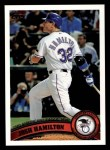 2011 Topps #29   -  Josh Hamilton Most Valuable Player Front Thumbnail