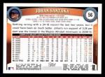 2011 Topps #56  Johan Santana  Back Thumbnail