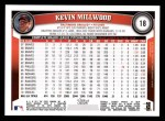 2011 Topps #18  Kevin Millwood  Back Thumbnail