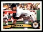 2011 Topps #96  Zach Duke  Front Thumbnail