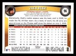 2011 Topps #96  Zach Duke  Back Thumbnail