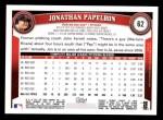 2011 Topps #62  Jonathan Papelbon  Back Thumbnail