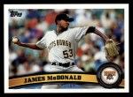 2011 Topps #73  James McDonald  Front Thumbnail