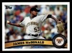 2011 Topps #73  James McDonald  Front Thumbnail
